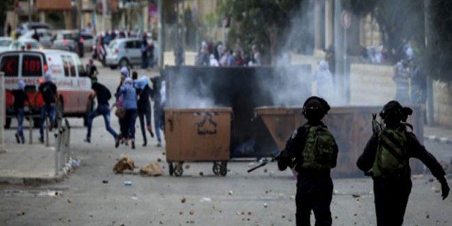 جراحت ده ها فلسطینی بر اثر اقدامات سرکوبگرانه اشغالگر ضد تظاهرات در الخلیل