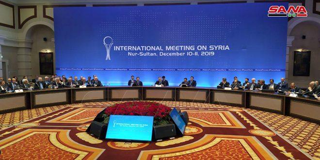 تاکید بیانیه پایانی چهاردهمین دور مذاکرات آستانه بر لزوم حفظ وحدت، استقلال و حاکمیت سوریه
