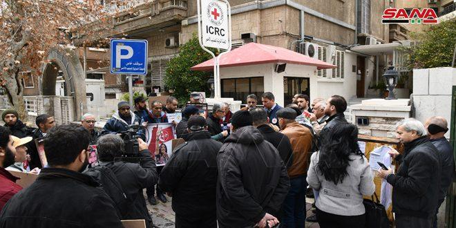 تجمع همبستگی با اسيران فلسطينی در دمشق