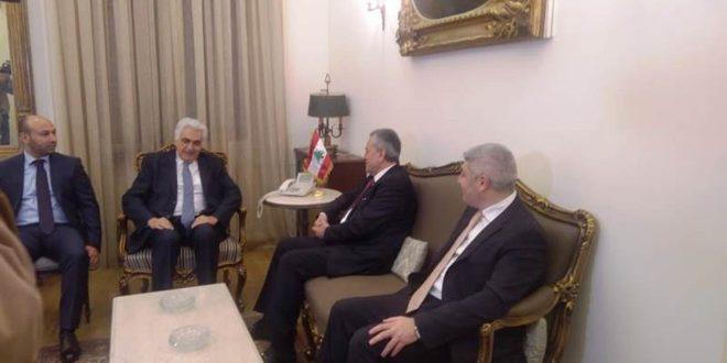 بررسی راه های تقویت روابط سوریه و لبنان در دیدار ناصیف حتی و علیعبدالکریم