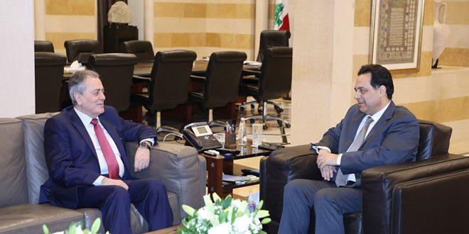 بررسی روابط سوریه و لبنان در دیدار حسان دياب و علی عبد الکریم