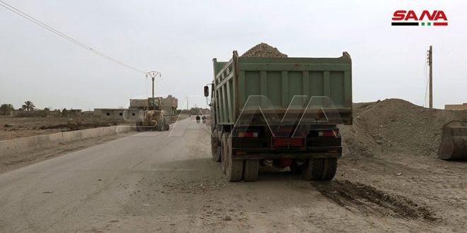 بازسازی جاده دیر الزور-بوکمال آغاز شد
