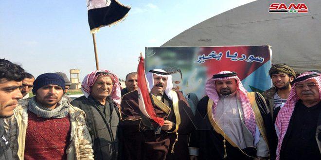 حمایت عشایر عربی حسکه از ارتش عربی سوریه