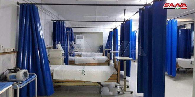 """اختصاص بخش بیماری های پولمونولوژی به عنوان مرکز قرنطینه پزشکی در بیمارستان """"الباسل"""" در استان طرطوس"""