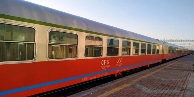 مسیر قطار طرطوس به لاذقیه با تعهد به تدابیر اتخاذ شده برای مقابله با ویروس کرونا بازگشایی شد