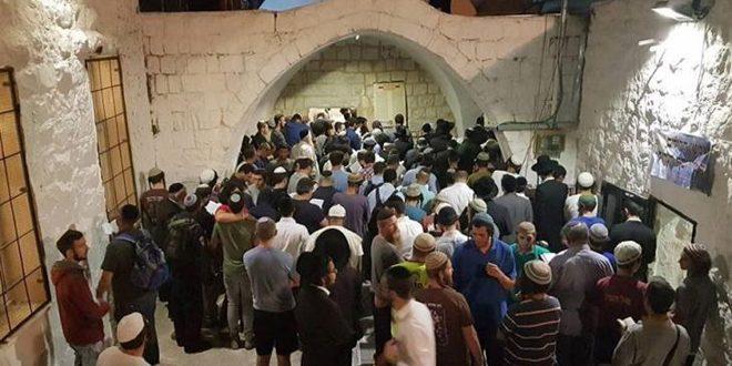 یورش ده ها شهرک نشین به منطقه «قبر یوسف» در شرق نابلس
