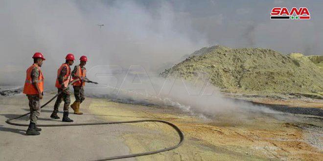 آتش سوزی در کارخانه تولید کود در شهر حمص مهار شد