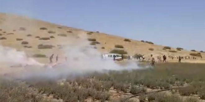 جراحت ده ها نفر فلسطینی بر اثر اقدامات سرکوبگرانه اشغالگر ضد تظاهرات نعلین