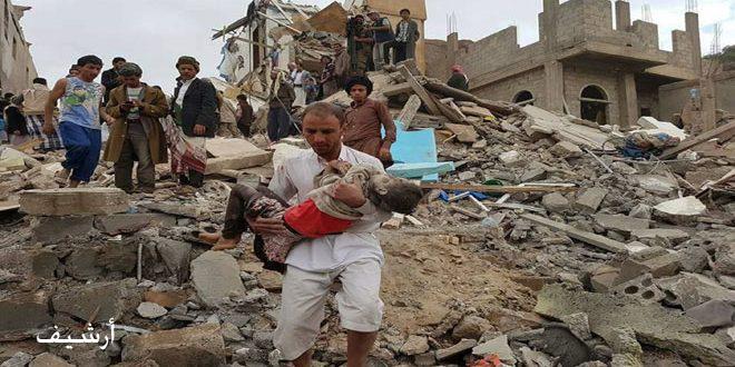 شهادت 9 یمنی از جمله یک کودک در پی حمله هوایی عربستان به استان الجوف