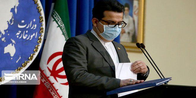 سخنگوی وزارت خارجه ایران بر ادامه تحکیم روابط سیاسی و اقتصادی و نظامی سوریه و ایران تاکید کرد