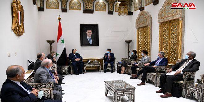 تاکید رئیس مجلس بر اهمیت تحکیم همکاری ها بین سوریه و سازمان جهانی بهداشت