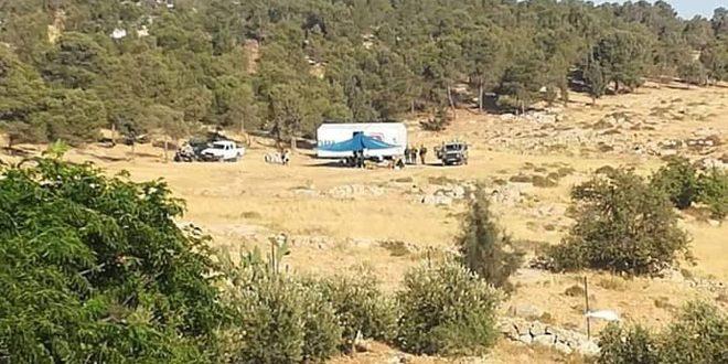 یورش شهرک نشینان به اراضی فلسطینی ها در شرق نابلس