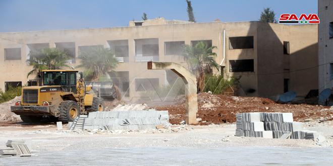 بازسازی 147 مدرسه آسیب دیده از تروریسم در درعا