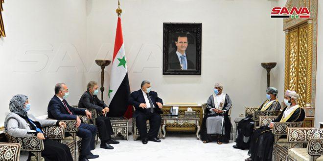 تاکید صباغ و سفیر عمان بر تقویت روابط برادرانه بین دو کشور
