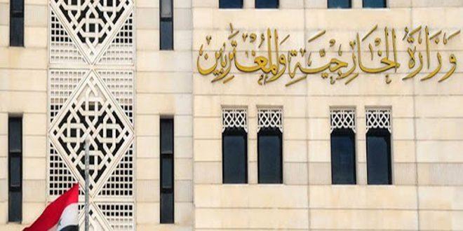 درخواست وزارت خارجه سوریه از نهاد های قضایی لبنان برای کشف شرایط حادثه فردی تاسف بار شهر بشری لبنان و پایان دادن به سوء استفاده از آن