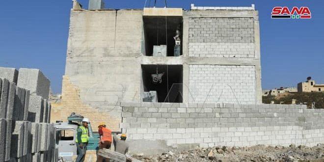 ادامه تلاش برای ترمیم و بازسازی مدارس آسیبدیده از تروریسم در حلب