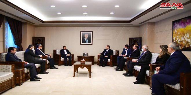 دیدار مقداد با سخنگوی وزارت امور خارجه ایران در دمشق