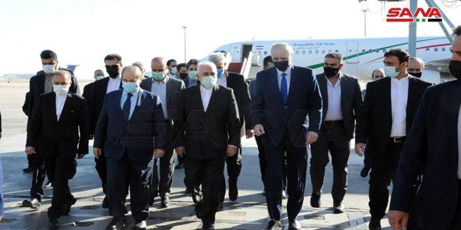 ظریف وارد دمشق شد