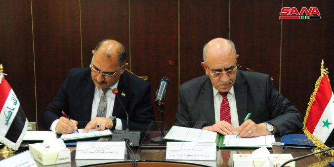امضای صورت جلسات طرف های سوری و عراقی .. ایجاد نقطه عطفی برای همکاری های صنعتی بین دو کشور