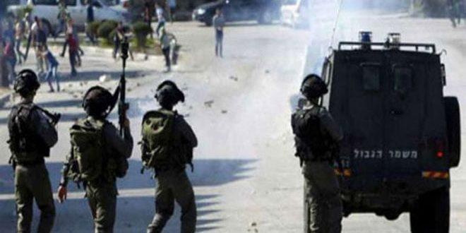 زخمی شدن ده ها فلسطینی در یورش نیروهای اشغالگر غرب رام الله
