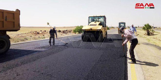 70 درصد بازسازی ورودی شرقی بزرگراه درعا-دمشق به اتمام رسیده است