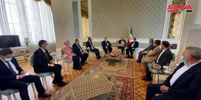 دیدار صباغ با رضایی در تهران / تاکید بر عمق روابط راهبردی بین سوریه و ایران