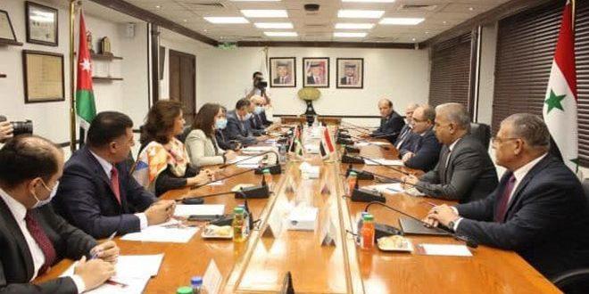 زمینه های تجارت ، حمل و نقل ، برق و کشاورزی ؛ محور جلسات وزرای سوریه و اردن