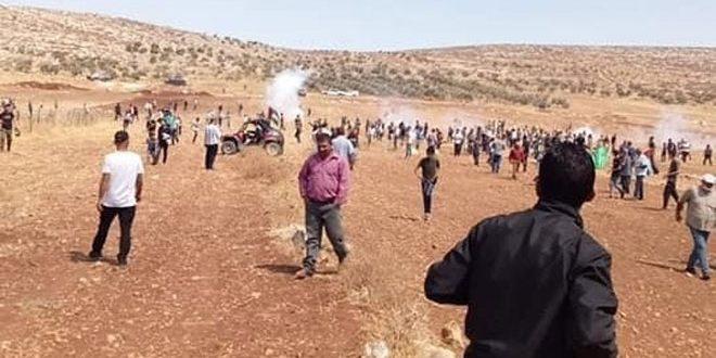 مجروحیت ده ها فلسطینی در نتیجه سرکوب تظاهرات توسط اشغالگران در کرانه غربی