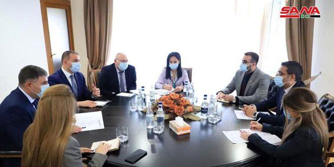 وزیر اقتصاد ارمنستان با سفیر سوریه در مورد توسعه و تقويت روابط دوجانبه گفتوگو كردند