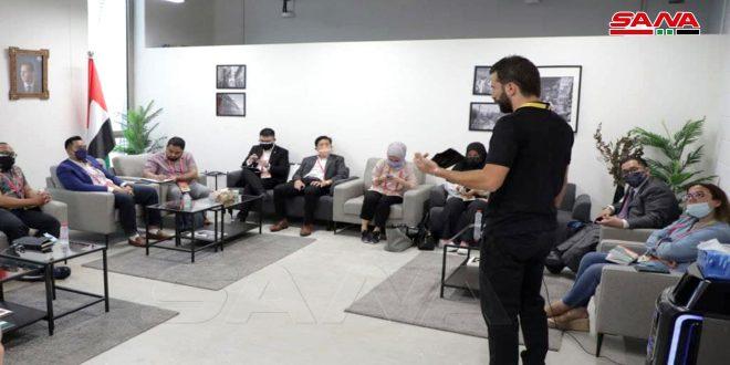 دیدار با همکاران کشورهای دیگر در غرفه سوریه در نمایشگاه دبی 2020