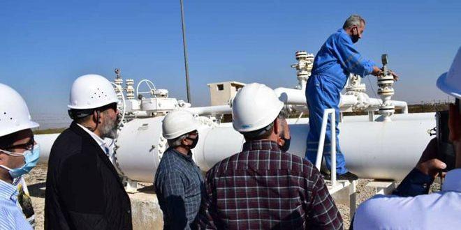 بازدید یک هیات سوری و لبنانی و مصری از ایستگاه های گاز الریان و الدبوسیه