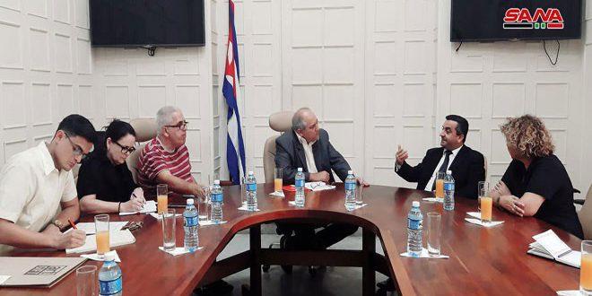 Le ministre cubain de la Culture réaffirme l'appui de son pays à la Syrie dans sa guerre antiterroriste