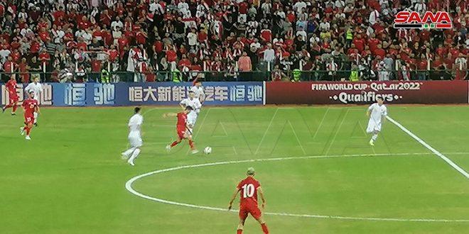 La sélection syrienne de football bat son adversaire chinoise aux éliminatoires des deux coupes d'Asie et du Monde