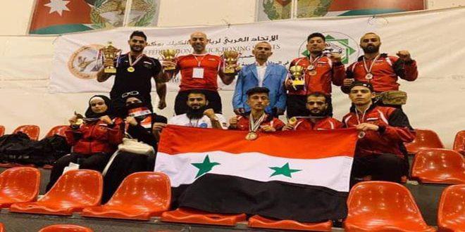 Treize médailles pour la Syrie au championnat arabe de Kickboxing