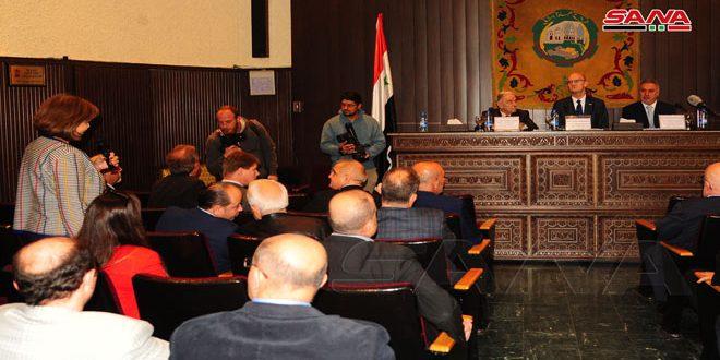 Entretiens entre l'Union des Chambres du commerce syriennes et une délégation parlementaire allemande sur la levée des mesures économiques unilatérales