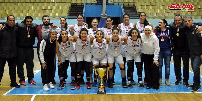 Le club al-Thawra remporte la Coupe de la République de basketball (Dames)