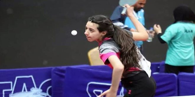 La joueuse de la sélection syrienne de tennis de table Hind Zaza se qualifie pour les Jeux olympiques à Tokyo