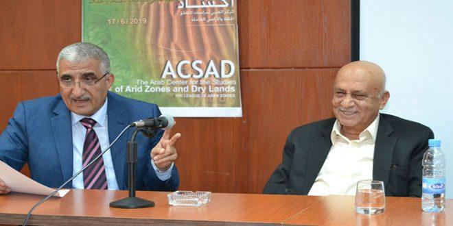 Le directeur d'ACSAD affirme l'importance de la réactivation de la coopération avec la Syrie