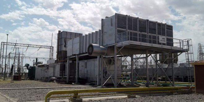 Réhabilitation du 2e groupe d'installations de gaz pour la génération de l'électricité dans l'installation d'al-Taym à Deir Ezzor