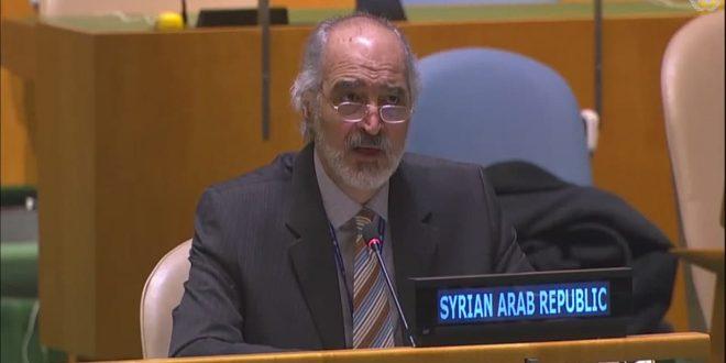Jaafari : La Syrie réclame aux Nations Unies de mettre leurs résolutionsen application pour mettre fin à l'occupation israélienne des territoires arabes occupés