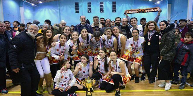 Al-Wehda remporte le titre du championnat de la Coupe de la Fédération de basketball « cadettes»