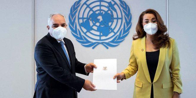 L'ambassadeur Khadour présente ses lettres de créance à l'ONUDC et à l'UNOOSA