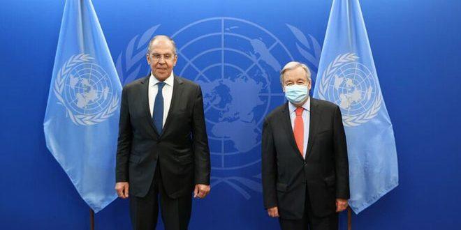 Lavrov et Guterres examinent la situation en Syrie, en Libye et en Afghanistan