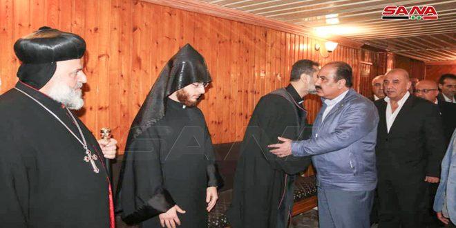 בהנחיתו של הנשיא מר בשאר אל-אסד .. אל-הלאל העביר את תנחומיו של הנשיא לארכיבישוף איפזין בשל נפילתם של הכומר בידוין ואביו