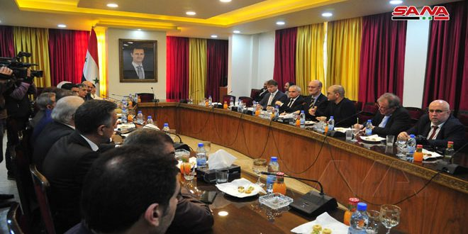 משלחת פרלמנטית גרמנית דנה במועצת העם בדרכים להסרת המכשולים בין סוריה לגרמניה