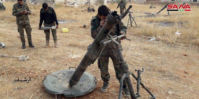 יחידות הצבא הרעישו עמדות טרור בפריפריה הדרום-מערבית של חלב