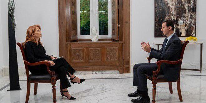 הנשיא אל-אסד בראיון שערוץ הטלוויזיה האיטלקית Rai News 24 נמנע מלשדר אותו : לאירופה התפקיד העיקרי ביצירת הכאוס בסוריה