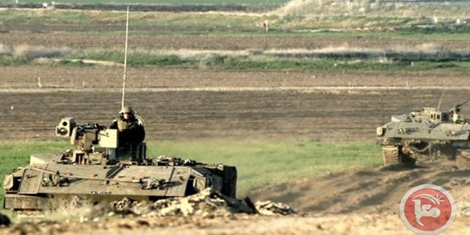 הכוחות הישראליים תקפו את החקלאים הפלסטינים ברצועה