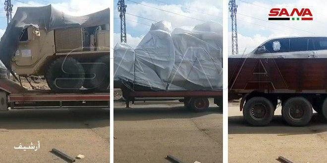 הכיבוש האמריקאי מכניס 25 כלי רכב לבסיסיו הבלתי חוקיים שבפרבר אל-חסכה