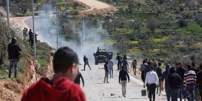 עשרות פלסטינים נפגעו במהלך דיכוי כוחות הכיבוש להפגנת כפר קדום